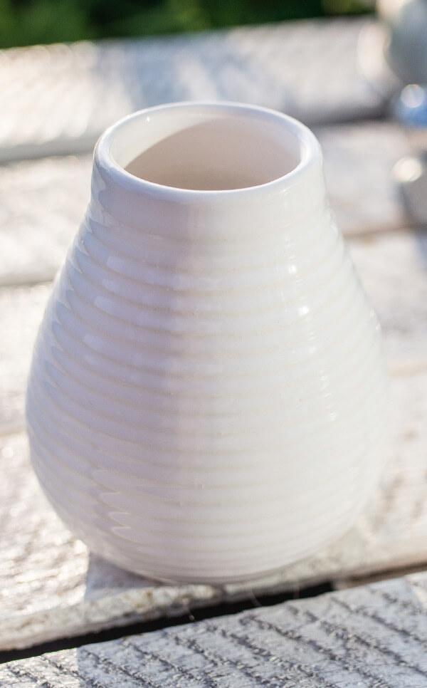 Tykwa - Ceramiczna miodowo biała | naczynie do yerby |250 ml
