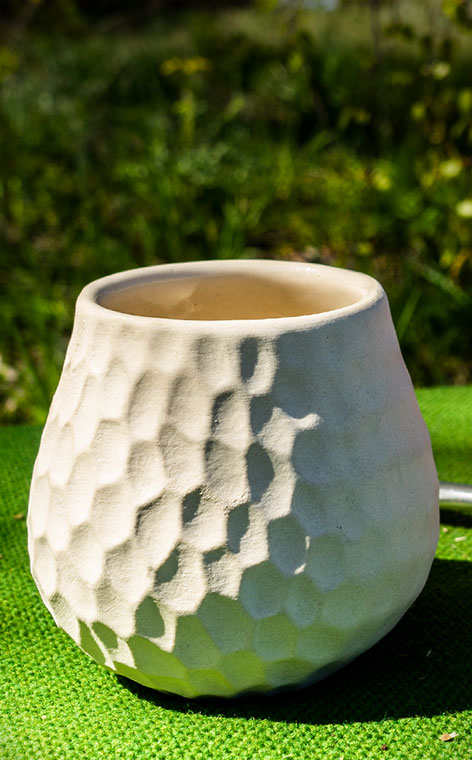 Tykwa - Ceramiczna Plaster Miodu | naczynie do yerba mate | 400ml