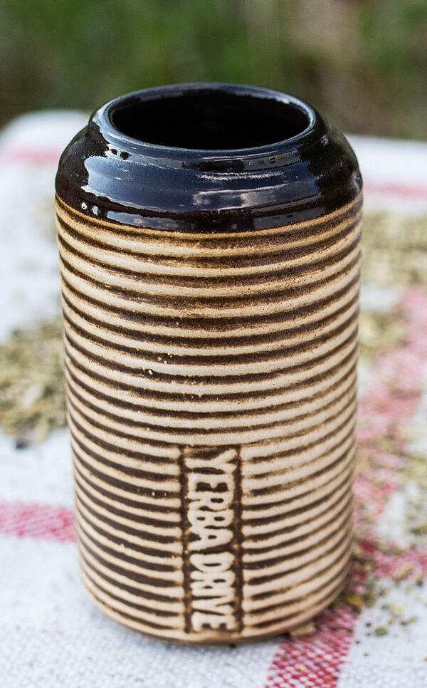 Matero/Tykwa - Ceramiczna Yerba Drive miodowa | kubek do yerba mate | 260 ml