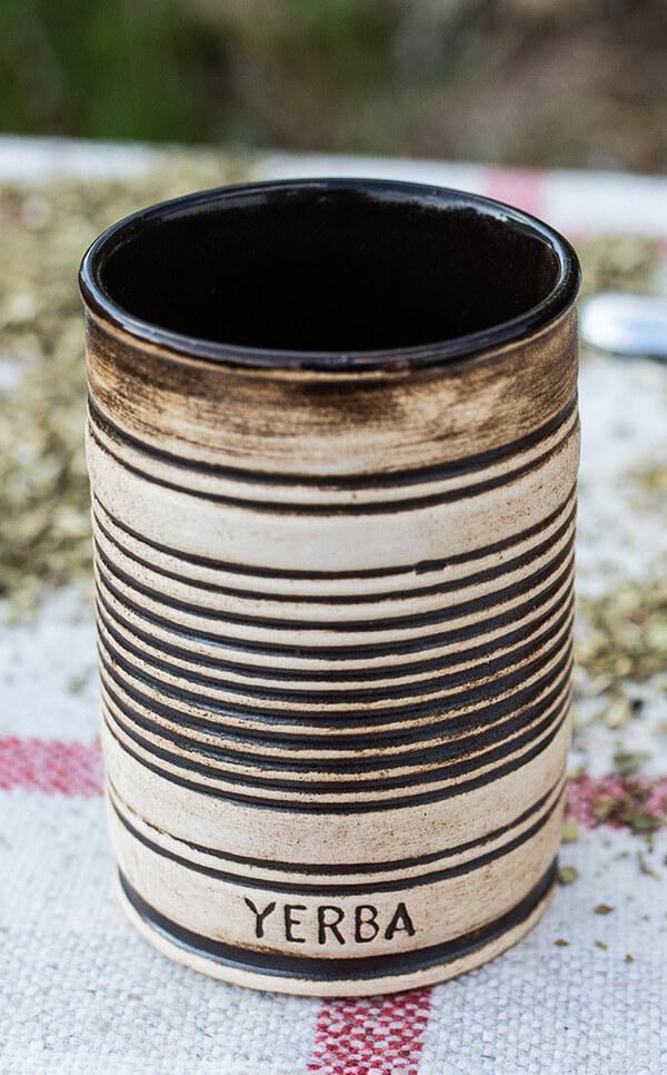 Matero/Tykwa - Kubek ceramiczny miodowy   kubek do yerba mate   300 ml