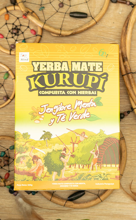 Kurupi - Ginger, mint and green tea   yerba mate   500g