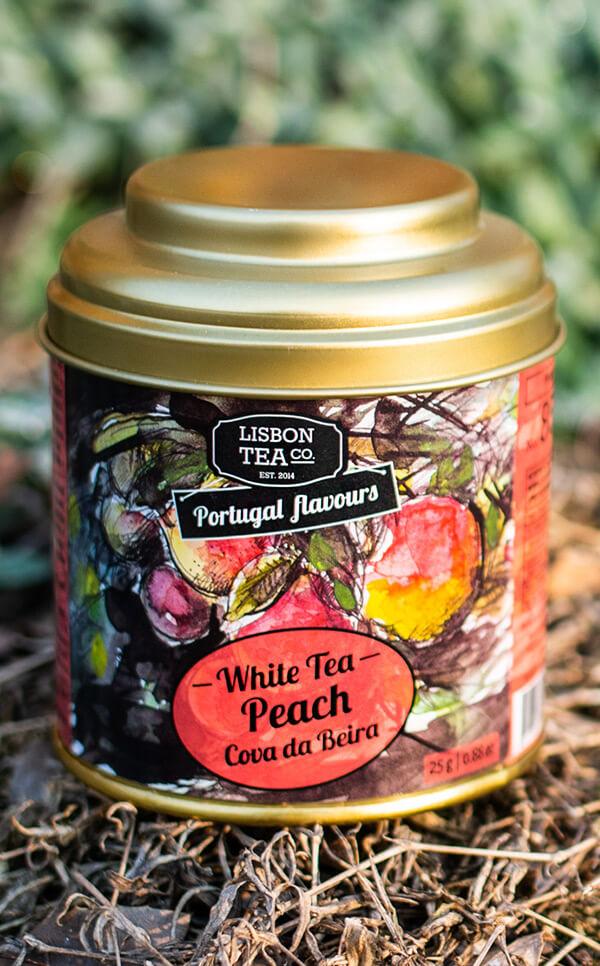 Lisbon Tea - biała herbata | z brzoskwinią Cova da Beira | 25g