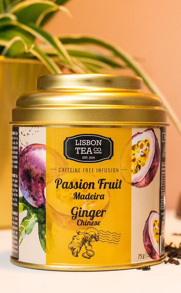 Lisbon Tea - marakuja z Madery | z chińskim imbirem | 75g