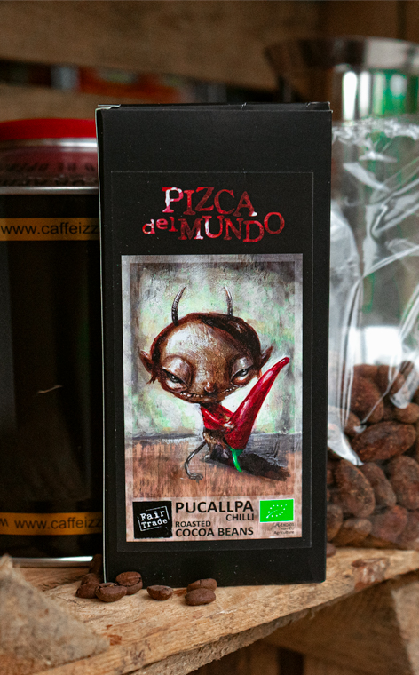 Pizca del Mundo - Pucallpa chilli | prażone ziarna kakao | 100g