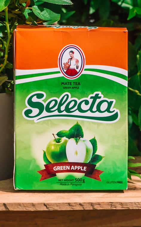 Selecta - Manzana Verde   yerba mate jabłkowa   500g