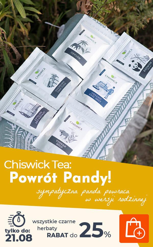 Powrót Pandy! Wszystkie czarne herbaty Chiswick Tea do 25% taniej